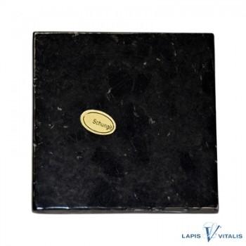 Platte Schungit in Geschenkschachtel, 7x7cm
