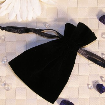 Samtbeutel, schwarz, 9 x 12 cm 20 Stück