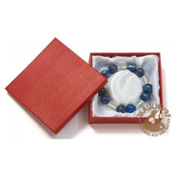 Schmuckschachtel für Armbänder, 10x10cm , blau (6 Stück/VE)