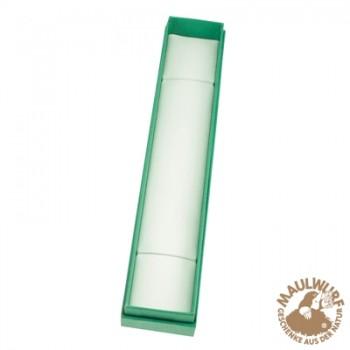 Schmuckschachtel Größe 7, 4x22cm , grün
