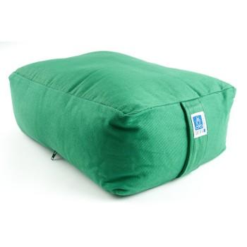 Sitzkissen, Quader grün mit Buchweizen