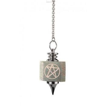 Symbolpendel, Jaspis viereck mit Pentagramm