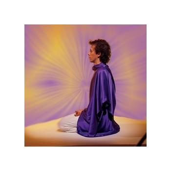 Tachyonisierter Seidenumhang zur Meditation