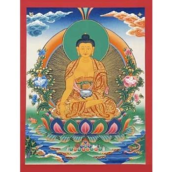 Thangka Buddha Shakyamuni 33 x 25,5 cm
