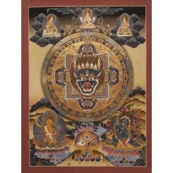 Thangka Mandala, ca. 56 x 43 cm