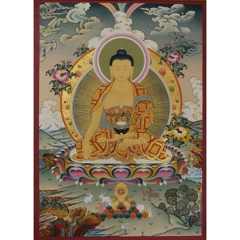 Thangka Shakyamuni Buddha, ca. 96 x 68 cm
