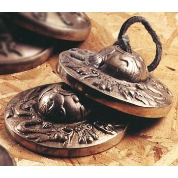 Tibetische Zimbel, Halbrelief Drachen