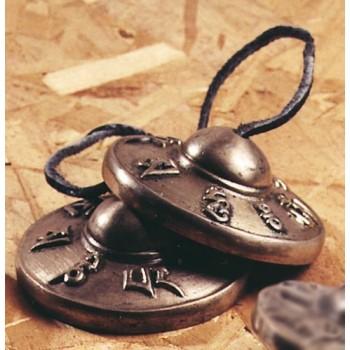 Tibetische Zimbel, Halbrelief mit Mantra