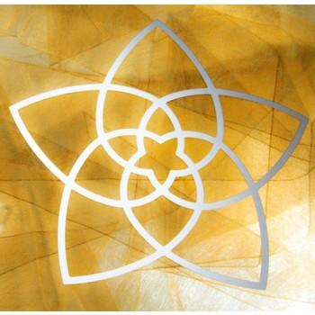 Wandschmuck, Venusblume - Blume der Liebe, Edelstahl 44 cm