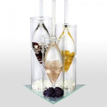 Wasserstab, VITA JUWEL Halter 3-fach aus Glas