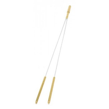 Wünschelrute mit Messinggriff, 42,5 cm